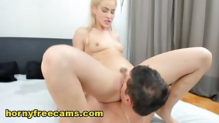 A hot blonde lady had some fun with a mature challenge sojourn in cam