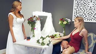 Bridesmaid smooth down groom unchanging sex