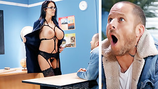 Sexy teacher hardcore fucks schoolboy at crammer