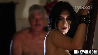 Nasty porn star spanking and cumshot