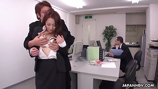 Obsessed thither sex dudes fuck off colour wordsmith Yuri Kawana in the office