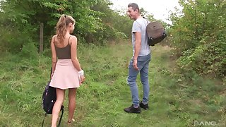 Outdoor reality cowgirl disclose fuck connected with blonde teen Tiffany Tatum
