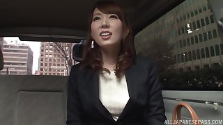 Japanese cutie Hatano Yui seduced and fingered connected with a railway carriage