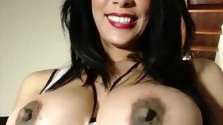 perky soul big exasperation slut fucks her racy pussy with dildo