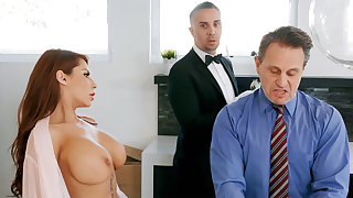 Horny serving-woman is ready at hand anal fuck housewife