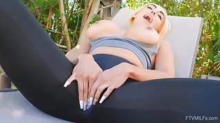 Team a few of the things Kylie loves is rubbing her cunt in the backyard