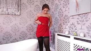 Horny nympho called Jamie T is ready upon striptease just be proper of you