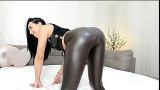 erotic girl window-dressing her juicy lumpish ass on webcam