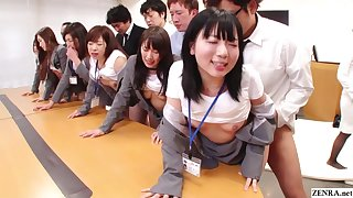 JAV huge line up sex office party in HD with Subtitles